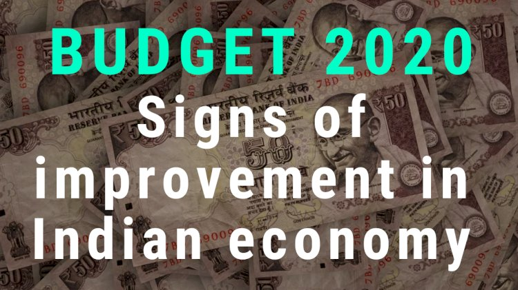 Signs of improvement in Indian economy